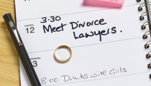 Appointment for divorce lawyers in diary