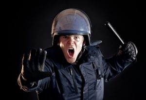 police officer angry