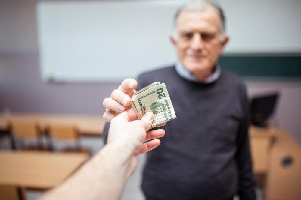 bribed at school