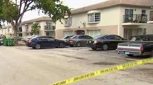 Crime scene outside apartments