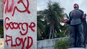 Ponce De Leon statues vandalized
